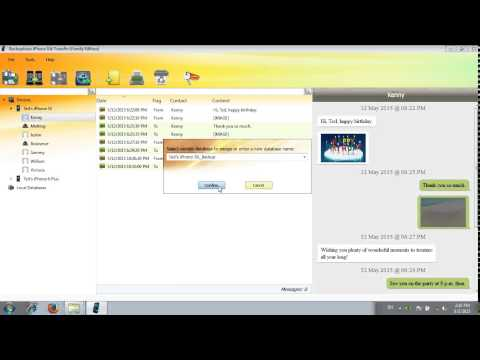 Copy and save iPhone Kik messages on computer