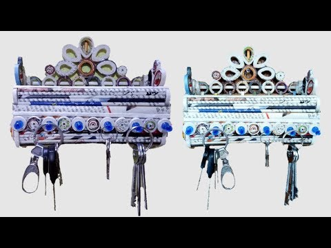 How To Make A Wall Hanging Key Holder with newspaper, Cardboard and Fevicol Simple And Easy
