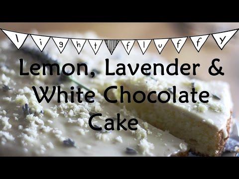 MOIST, FLUFFY AND SUPER EASY LEMON, LAVENDER AND WHITE CHOCOLATE CAKE | evolusian