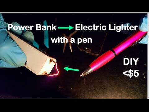 How to turn your Power Bank into an Electric Lighter with a simple pen | DIY ($5)
