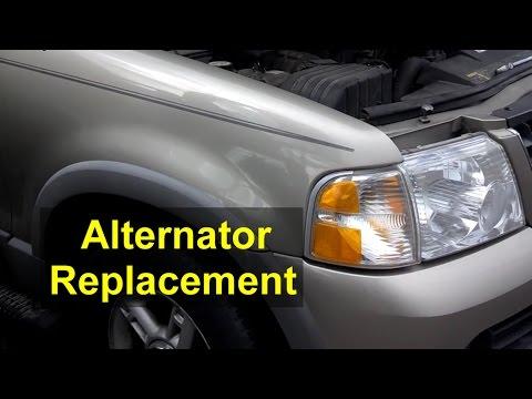 Alternator replacement, Ford Explorer, 4.0 V6 engine - VOTD