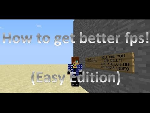 How to get better FPS in minecraft!