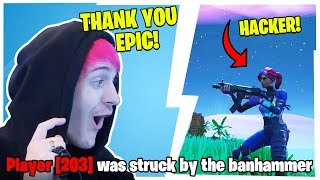 NINJAS STREAM SNIPER FINALLY GETS BANNED *LIVE* IN-GAME!