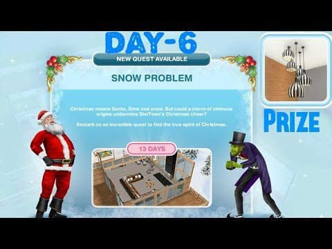 Simsfreeplay - Snow Problem Quest Day - 6 Christmas Holiday Update 2017
