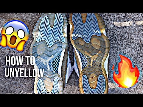 HOW TO UNYELLOW YOUR ICY SOLES | EASY TUTORIAL!!!