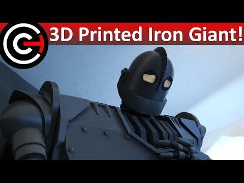 Massive 3D Printed Iron Giant & Hogarth! - Printed on Prusa MK3, MK2S, Robo R2 & Peopoly Moai