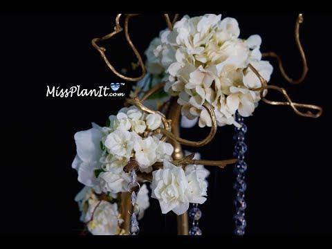 Tall Centerpiece / DIY / How To Create A Secret Garden Tall Wedding Centerpiece!