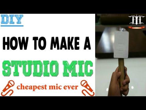 DIY|how to make studio mic at home!!|World's cheapest mic|Hindi Audio|