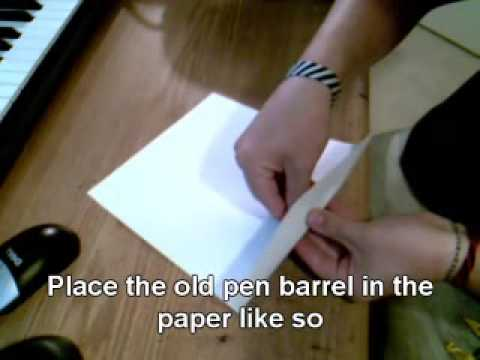 How to Remove the Text off of a Pen Barrel