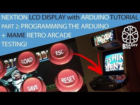 Nextion Display + Arduino Leonardo + MAME Retro Arcade Part 2 - Tutorial