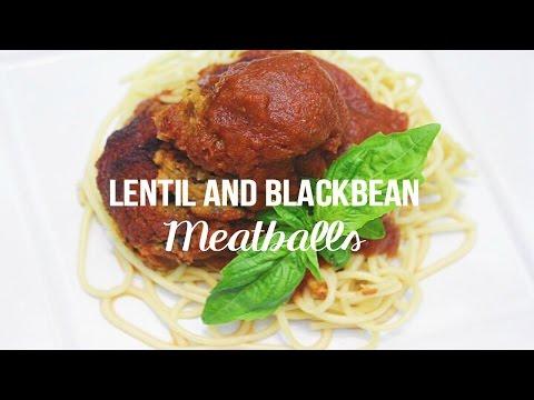 Lentil Meatballs + Homemade Tomato Sauce // MoreSaltPlease