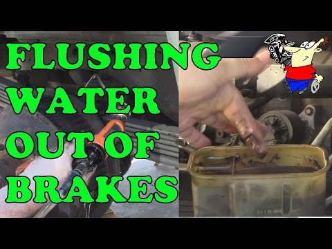 FLUSHING WATER OUT OF BRAKES