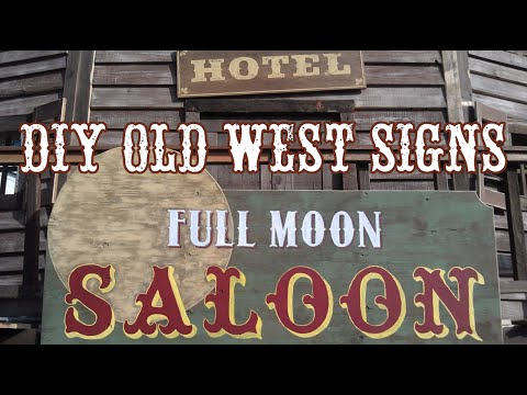 How To Make Old West Signs - Age & Weather Wood