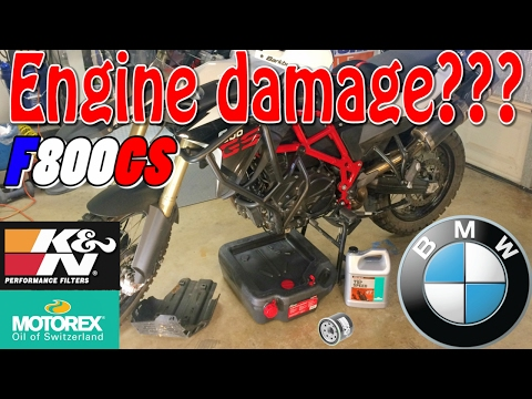 BMW F800GS oil & filter change - Commuter mods ep.5