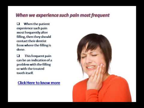 How to Relieve tooth pain after filling by dentist