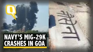 Indian Navy's MiG-29K Crashes in Goa; Pilots Eject Safely | The Quint