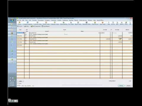 Payroll- How to book it correctly in QuickBooks