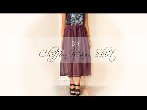 🌺 DIY Chiffon Maxi Skirt 🌺