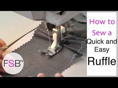 How to Sew a Quick and Easy Ruffle