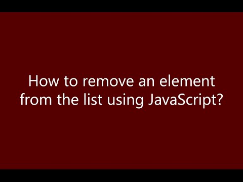 How to remove an element present in a list using JavaScript ?