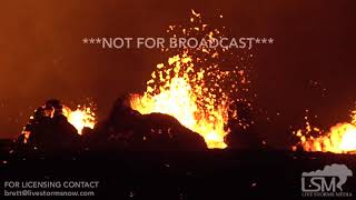5-20-2018 Pahoa, Hi Fissure #20 and #22 volcanic eruption big lava flows from Kilauea 4k
