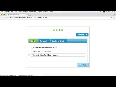 jQuery UI Project: To Do List Application (Part 2)