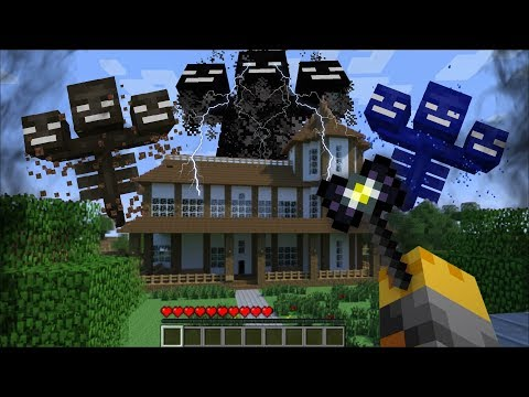 GIANT WITHER APPEARS IN MY HOUSE IN MINECRAFT !! Minecraft Mods