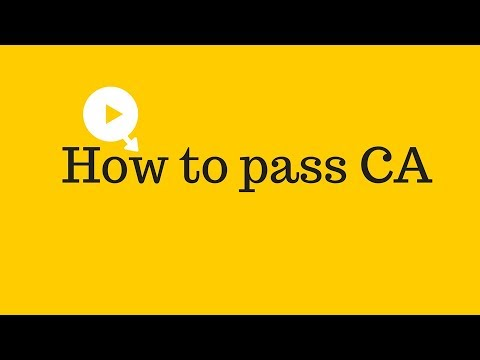 How to pass CA (Chartered Accountant) | How to pass CA final (Chartered Accountant)