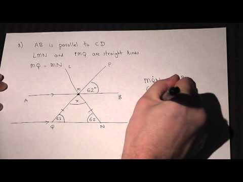 Geometry : Angles and Parallel Lines : solving problems