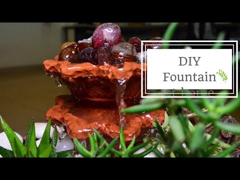 DIY Water Fountain at Home 🌻🌼🌸
