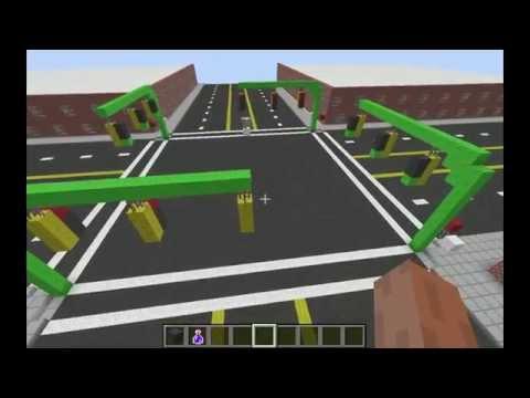 Redstone Traffic Light in Minecraft