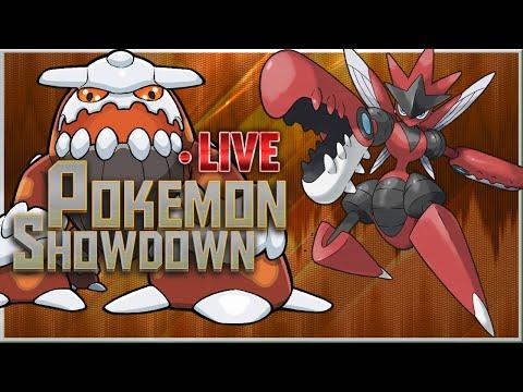 PokemonShowdown Live ORAS OU - Magma Storm Heatran & Offensive SD Mega Scizor