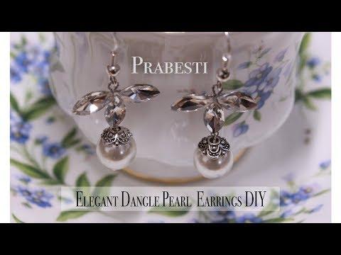 Elegant Dangle Pearl Earrings DIY