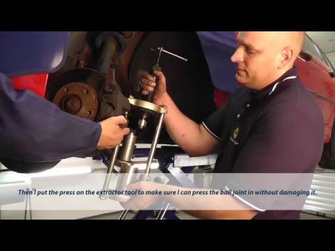 Replacement of the MEYLE-HD ball joint on BMW models