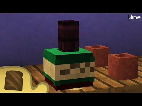 Minecraft   How to make a Bottle of Wine