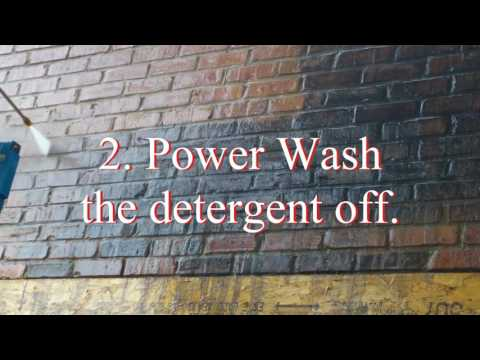 How to clean dirty brick with pressure washer and detergent