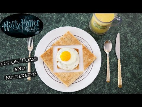 Harry Potter Egg on Toast with Butterbeer Breakfast