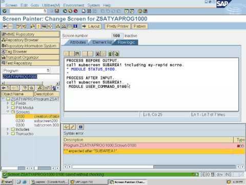 Creation of Tabstrip(Module pool programming)
