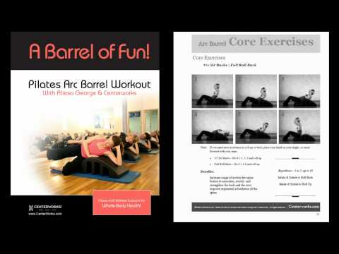 At Home Workouts with the Pilates Arc Barrel