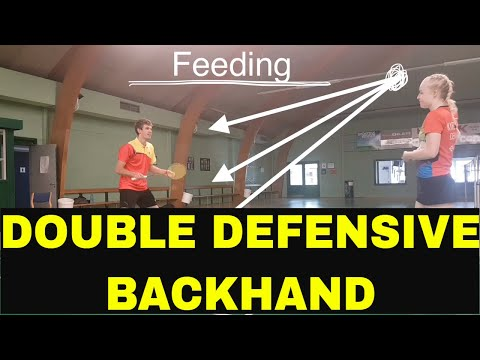 BADMINTON EXERCISE #32 - DOUBLE DEFENSIVE - BACKHAND