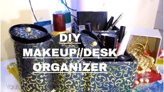 Download DIY MAKEUP ORGANIZER//DIY TABLE ORGANIZER//EASY DIYS FOR KIDS Video