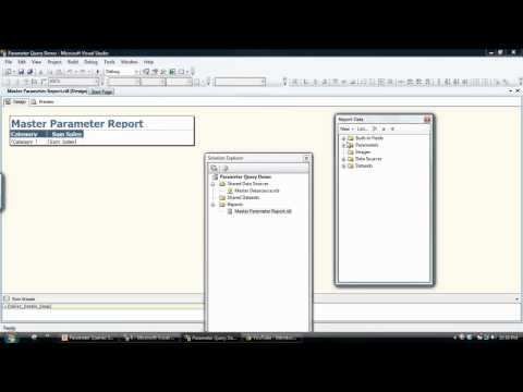 Creating a SQL Server Reporting Services (SSRS) report that contains a  Parameter Query