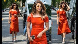 A Kid Like Jake Shooting  - Priyanka Chopra Hot In Orange Dress