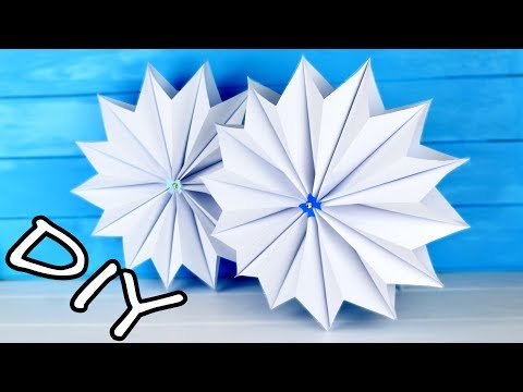 3D Paper Snowflake Tutorial | Christmas decorations