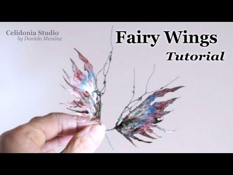 OOAK Fairy Wings Tutorial for Art Dolls - Winter Time