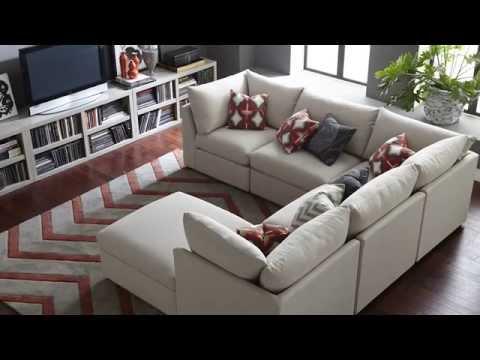 The Beckham Sectional Sofa by Bassett Furniture
