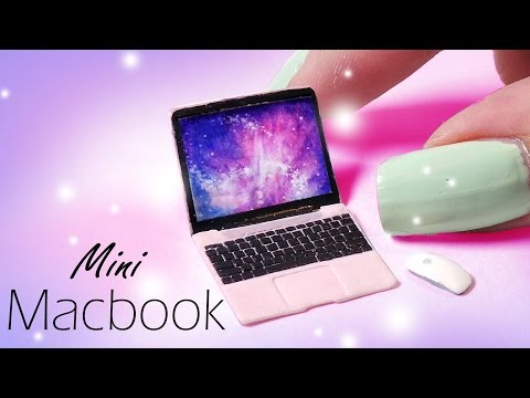 Cute Miniature Macbook (Inspired) // Dolls/Dollhouse DIY