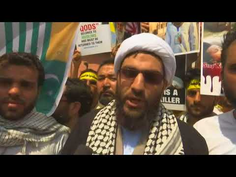 Muslims in northern India hit the streets to mark al-Quds Day