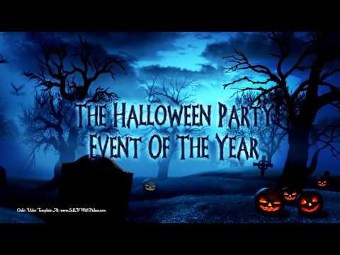 Halloween Party Invitations - Spooky Holiday Invitations - Halloween Video Templates