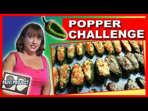 Jalapeno Poppers two ways - Salmon and sausage stuffed